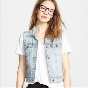 Madewell Jean Vest Clear View